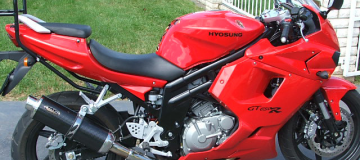Hyosung GT 650R Stainless Steel and Carbon Fibre Muffler