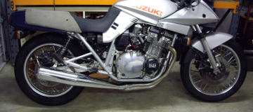 Katana-1100-Full-System-SSteel-Headers,-Chrome-Muffler